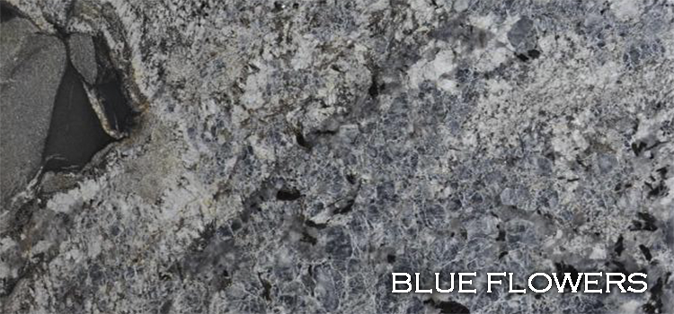 Blue Flowers Granite